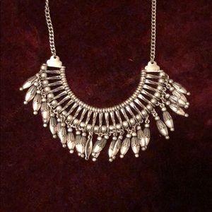 Boho style fringe necklace